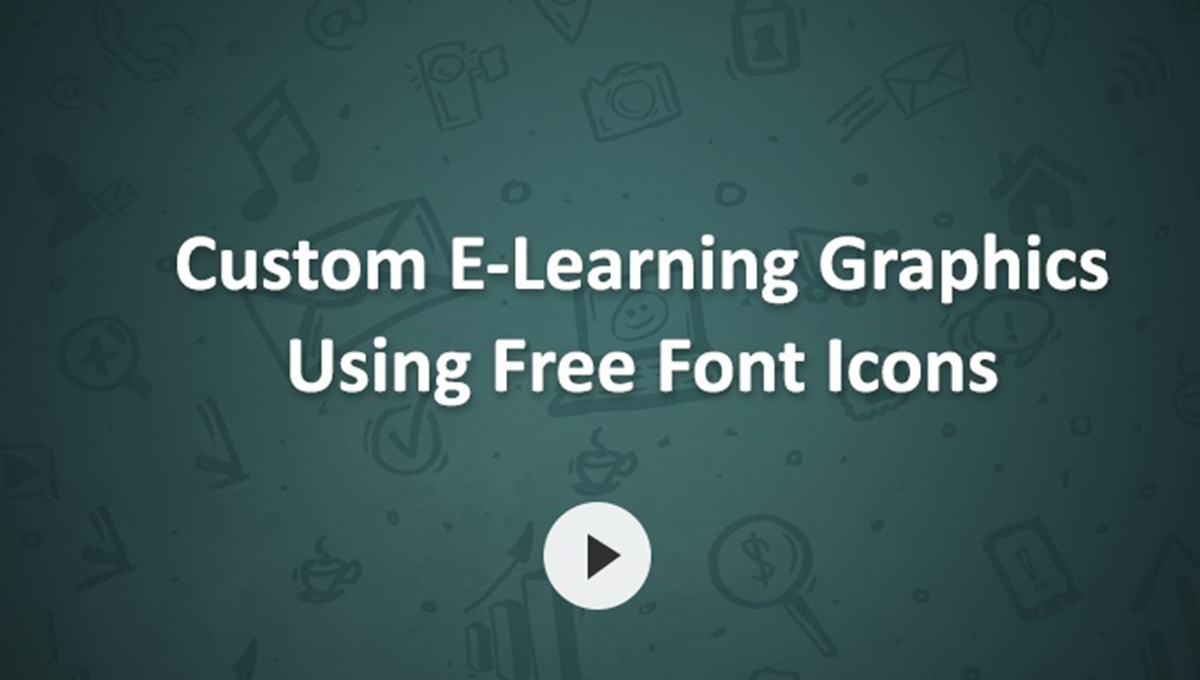 Custom E-Learning Graphics Using Free Font Icons