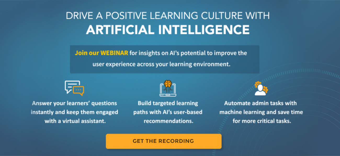 How AI Can Help You Improve the Learner Experience