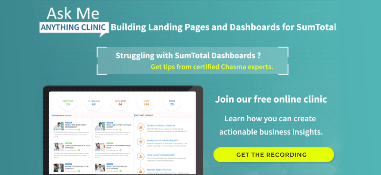 6 ways to make SumTotal LMS landing page more interactive with learner-centric dashboards