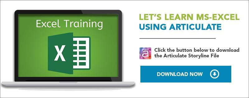 Elearning challenge_lets-learn-ms-excel-using-articulate